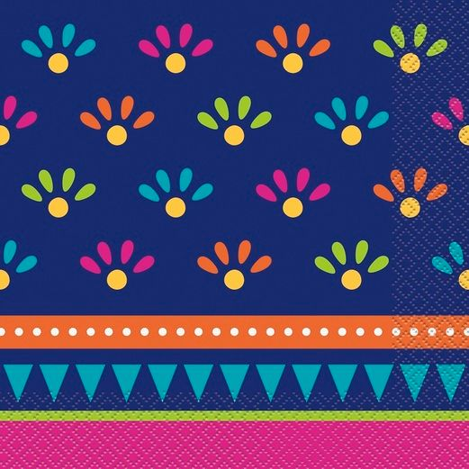 Fiesta Table Accessories Boho Fiesta Lunch Napkin 20ct Image