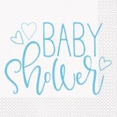 Baby Shower Table Accessories Blue Hearts Baby Shower Luncheon Napkins Image