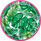 "Luau Table Accessories Palm Tropical Luau 7""Plate Image"