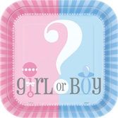 "Baby Shower Table Accessories Gender Reveal 9"" Plates Image"