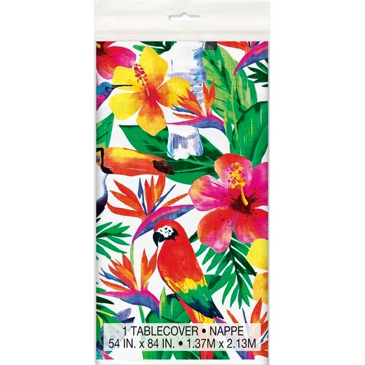 Luau Table Accessories Palm Tropical Tablecover Image