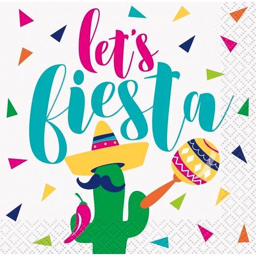 Cinco de Mayo Let's Fiesta Beverage Napkin Image