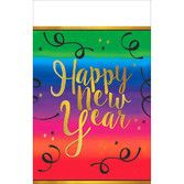 New Years Table Accessories Colorful New Year Plastic Tablecover Image