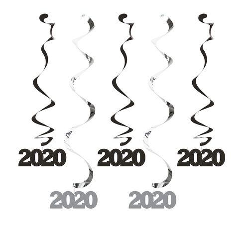2020 Black and Silver Dizzy Danglers