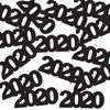 New Years Decorations 2020 Black Metallic Confetti Image