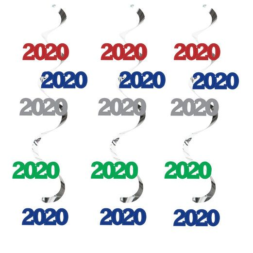 New Years Decorations 2020 Assorted Color Dizzy Danglers Image