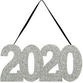 New Years Decorations 2020 Glittered Sign Image