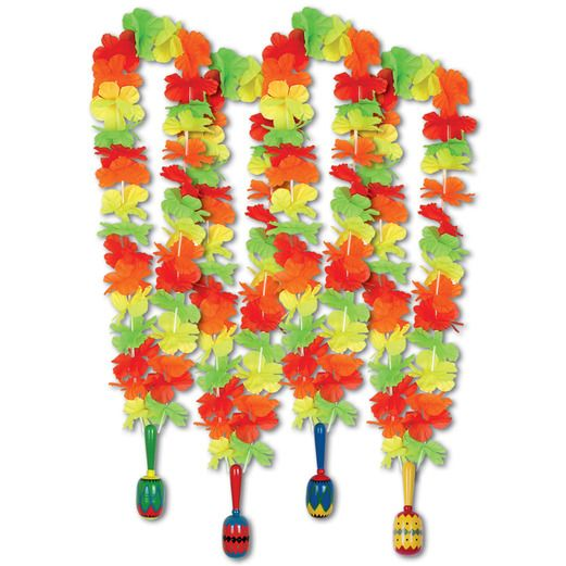 Cinco de Mayo Party Wear Fiesta Lei with Maraca Image