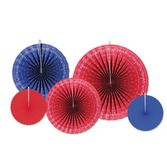 Western Decorations Bandana Accordion Paper Fans Image