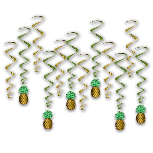 Luau Decorations Pineapple Whirls Image