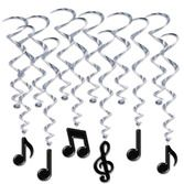 Fifties Decorations Musical Notes Whirls Image