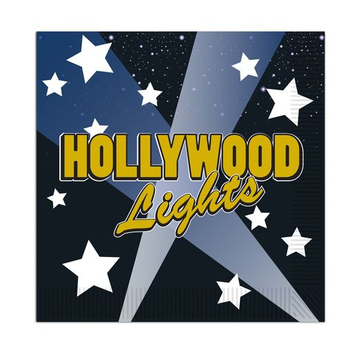 Awards Night & Hollywood Table Accessories Hollywood Lights Beverage Napkins Image