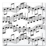 Fifties Table Accessories Musical Notes Luncheon Napkins Image