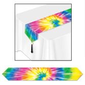 60s & 70s Table Accessories Tie-Dyed Table Runner Image