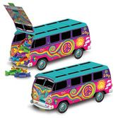 60s & 70s Decorations 3-D 60's Bus Centerpiece Image