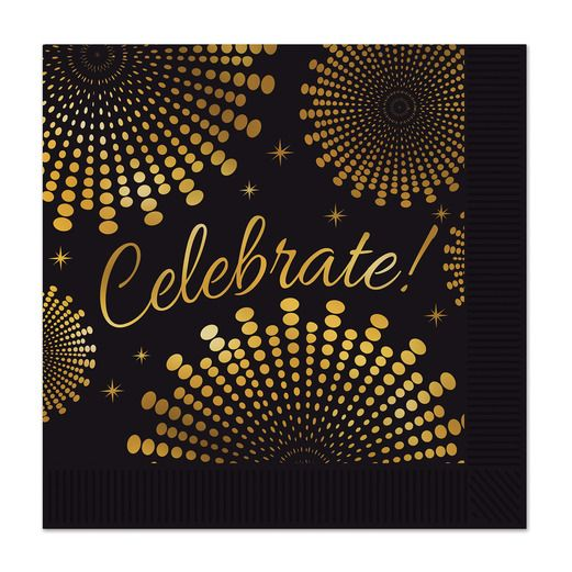 New Years Table Accessories Celebrate Luncheon Napkins Image