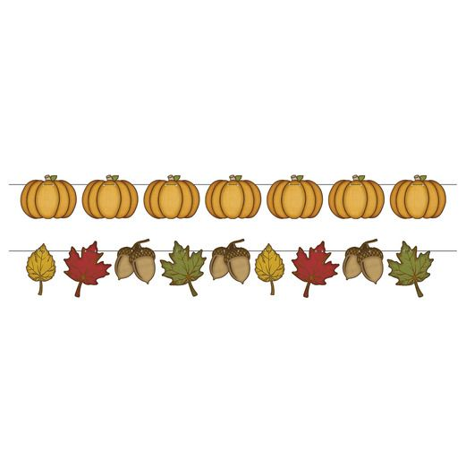 Thanksgiving Decorations Rustic Fall Streamer Set Image