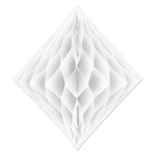 Decorations White Tissue Diamond Image