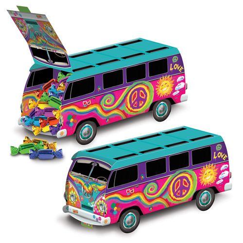 3-D 60's Bus Centerpiece