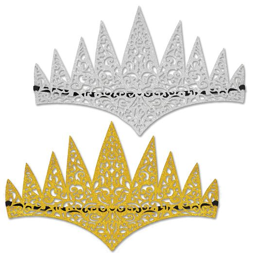 Hats & Headwear / Crowns & Tiaras Glittered Princess Tiara Image
