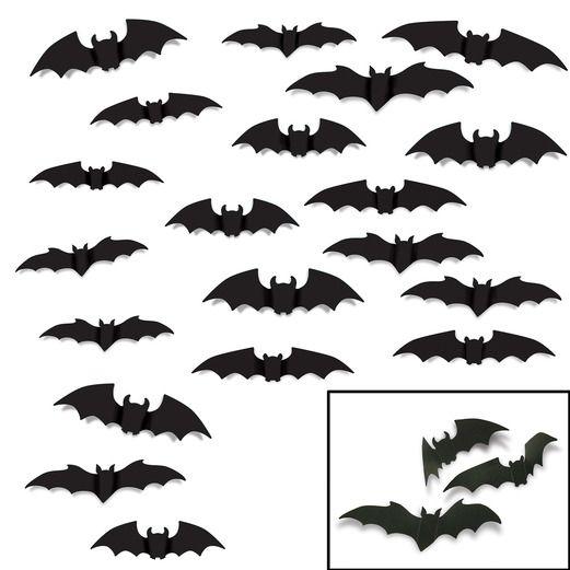 Halloween Decorations Bat Silhouettes Image