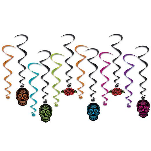 Day of the Dead Decorations Day of the Dead Skull Whirls Image