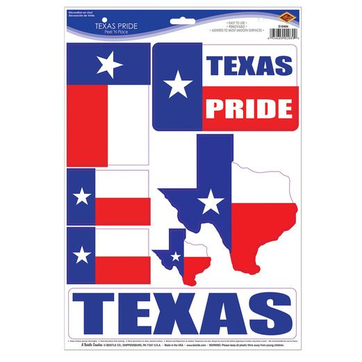 Western Decorations Texas Clings Image