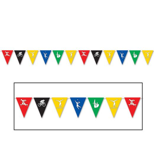 Sports Decorations Summer Sports Pennant Banner Image