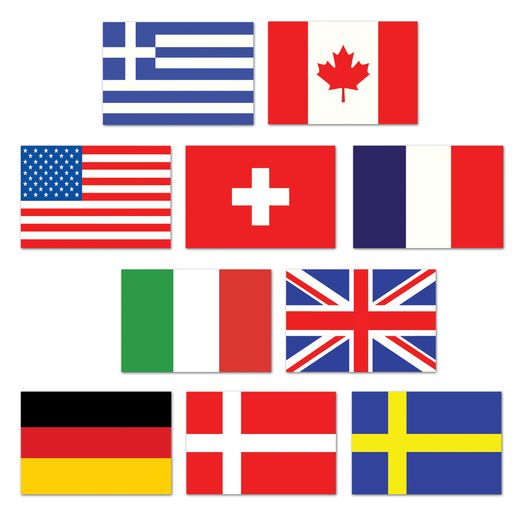 International Decorations International Flag Cutouts Image