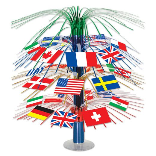 International Decorations International Flag Cascade Centerpiece Image