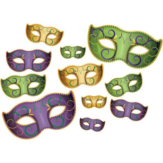 Mardi Gras Decorations Mardi Gras Mask Cutouts Image