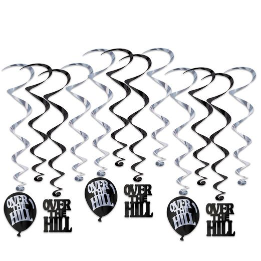 Birthday Party Decorations Over the Hill Whirls Image