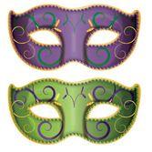 Mardi Gras Decorations Jumbo Mardi Gras Mask Cutouts Image