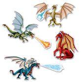 Birthday Party Decorations Dragon Cutouts Image