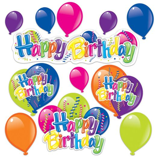 Birthday Party Decorations Happy Birthday Cutouts Image