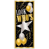Birthday Party Decorations Look Who's Door Cover Image