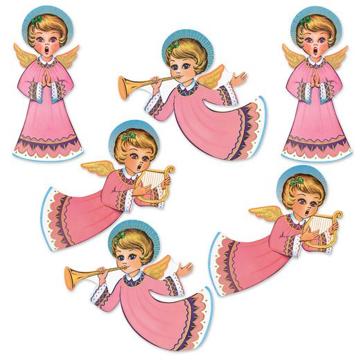 Christmas Decorations Vintage Christmas Angel Cutouts Image