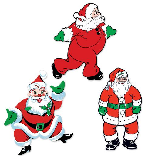 Christmas Decorations Vintage Christmas Santa Cutouts Image