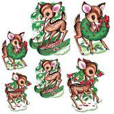 Christmas Decorations Vintage Reindeer Cutouts Image