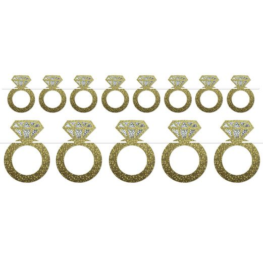 Wedding Decorations Diamond Rings Streamer Image