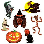 Halloween Decorations Vintage Halloween Classic Cutouts Image