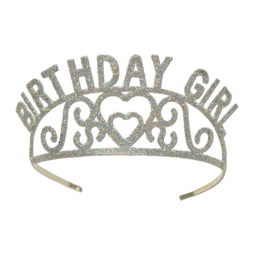 Birthday Party Hats & Headwear Birthday Girl Metal Tiara Image