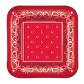 "Western Table Accessories Bandana Plates 7"" Image"