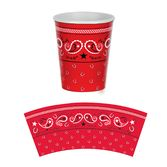 Western Table Accessories Bandana Cups Image