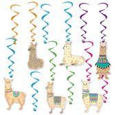 Birthday Party Decorations Llama Whirls Image