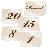 Wedding Decorations Numbered Table Cards Image
