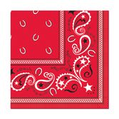 Western Table Accessories Bandana Beverage Napkins Image