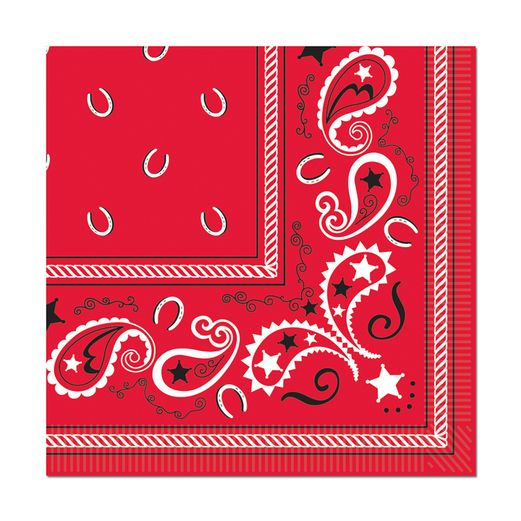 Western Table Accessories Bandana Luncheon Napkins Image