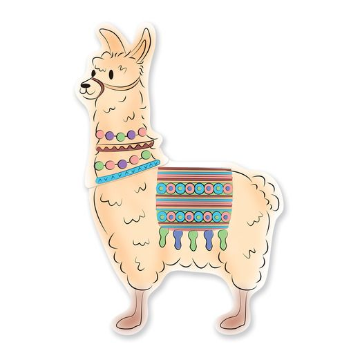 Birthday Party Decorations Jointed Llama Image