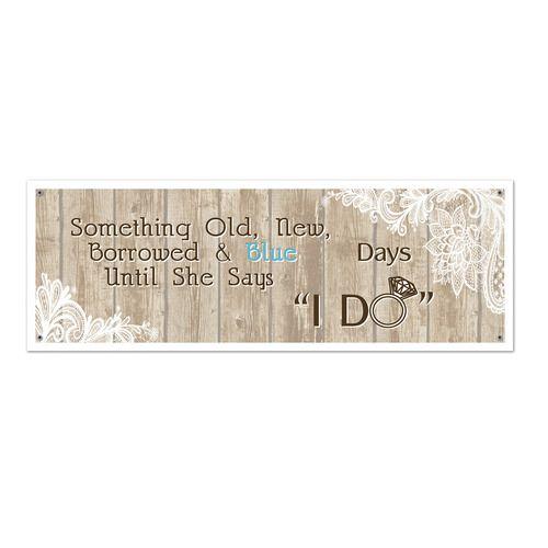 Rustic Wedding Sign Banner